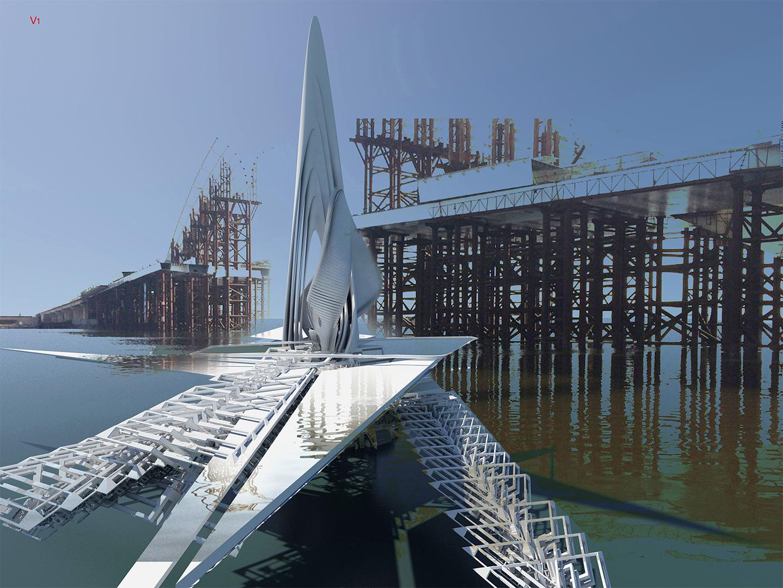 Revolving Sail Bridge