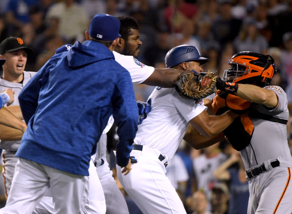 See the Bench-Clearing Brawl That May Have Reignited the Dodgers/Giants Rivalry