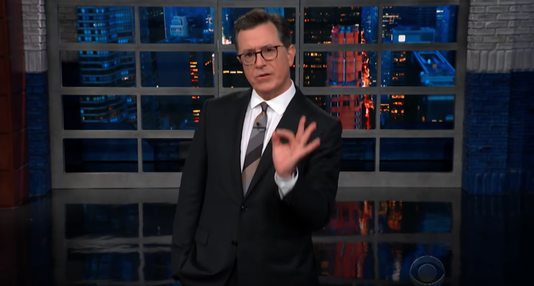 """Stephen Colbert Fires Back at Trump for Stormy Daniels """"Horseface"""" Jab"""